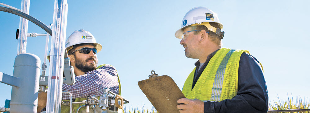 Two Alliant Energy gas workers